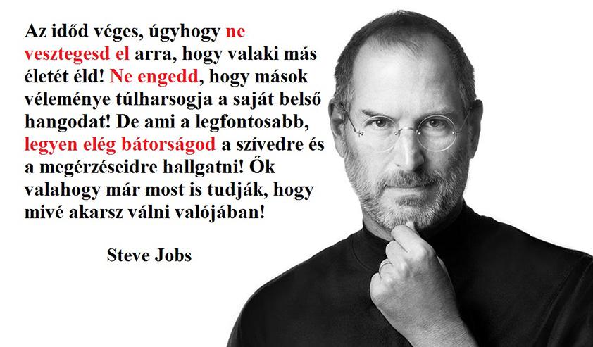 jobs - Steve Jobs motiváló sorai