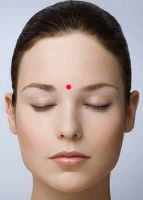 yintang - A 3.szem csakra fő energiapontjának kezelése