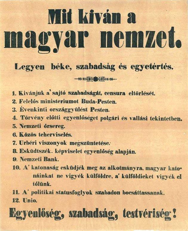 március - Mi történt 1848. március 15-én?