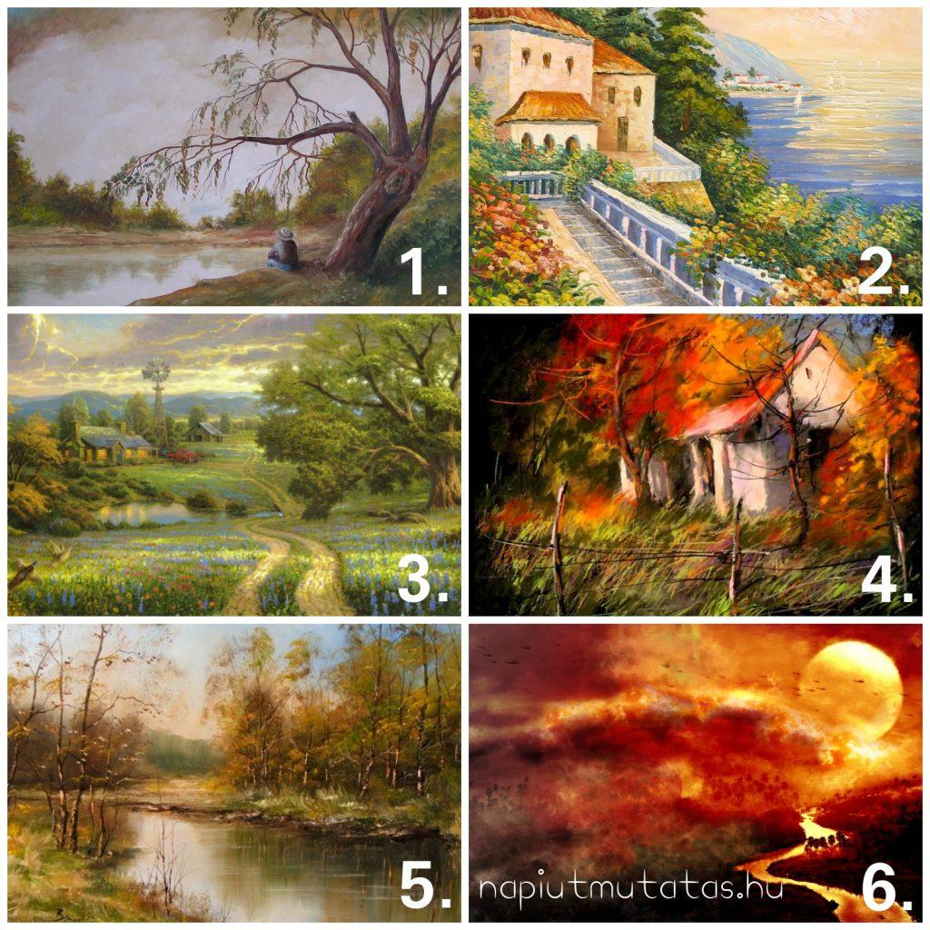 festményt 1024x1024 - Válassz egyet a szép festmények közül! Különös dolgokat árul el rólad!