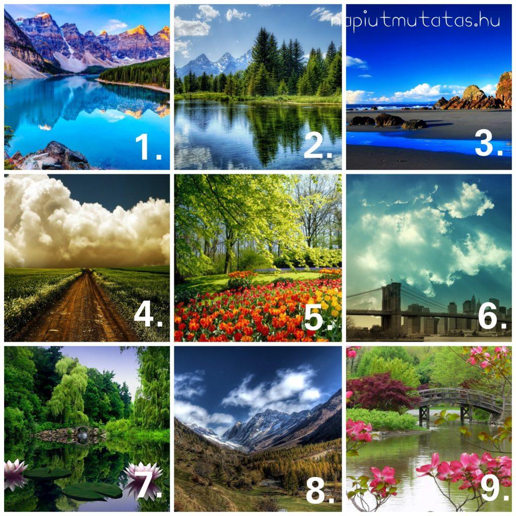 tájkép 1024x1024 - Te melyik tájképet választanád? Ezt árulja el lelki világodról!