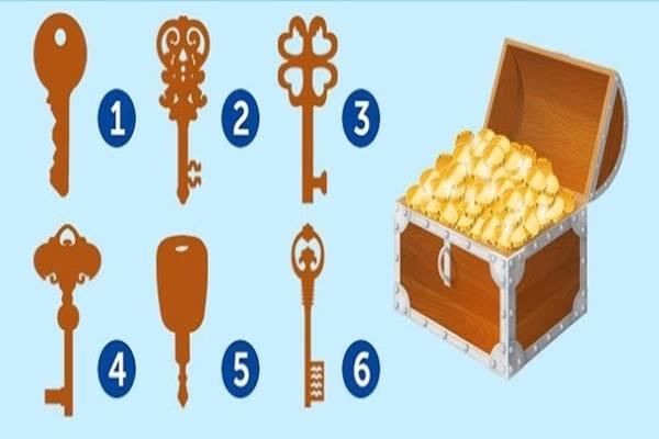 kincsesládát - Te melyik kulccsal nyitnád ki ezt a kincsesládát? Választásod meglepő dolgokat árul el!