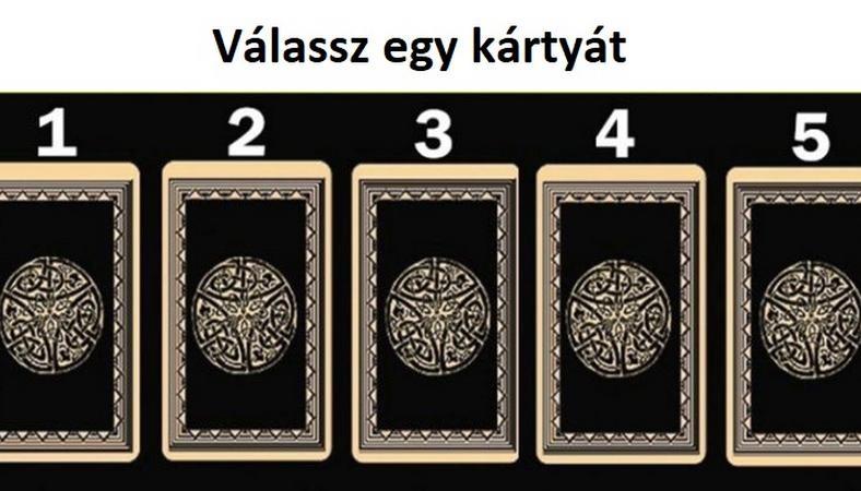 12kártyát - Öt egyforma kártyát látsz? Nem! Válassz egyet és tudd meg milyen üzenete van számodra